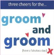 Groom & Groom Civil Partnership Greeting Card